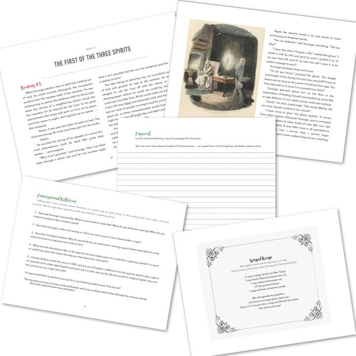 A Christmas Carol novel & journal for homeschooling