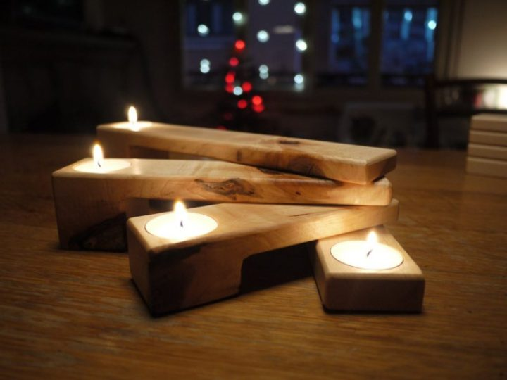 Gifts for advent: A beautiful, custom advent candle wreath or holder, like this one handmade in Spain.