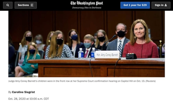 Caroline's new piece in the Washington Post! Thoughts on how Amy Coney Barrett does it all.