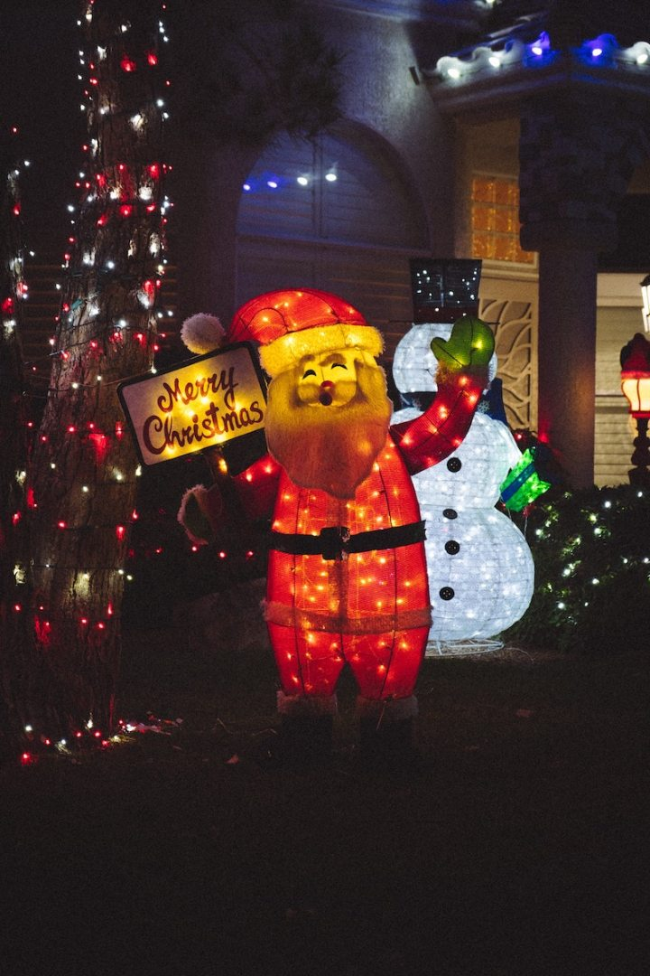 Use the make-read-give-see method for choosing Christmas traditions: Go see Christmas lights with your kids!