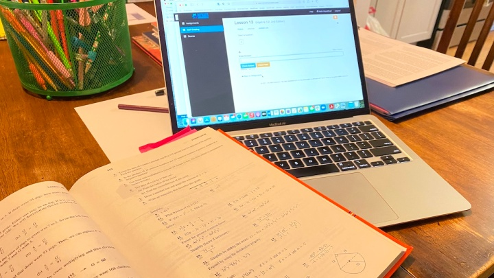 The self-grading Saxon math website we're loving right now